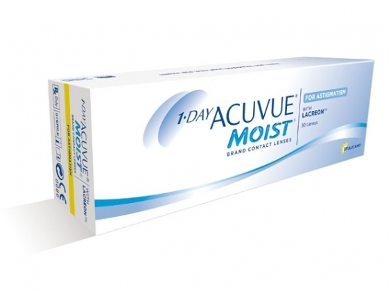 Появление линз 1-Day Acuvue Moist for Astigmatism
