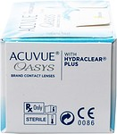 Отзыв на Acuvue Oasys with Hydraclear Plus