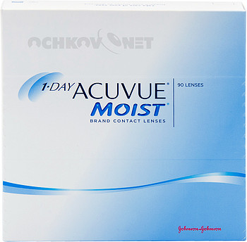 Контактные линзы Johnson & Johnson 1-Day Acuvue Moist 90 линз