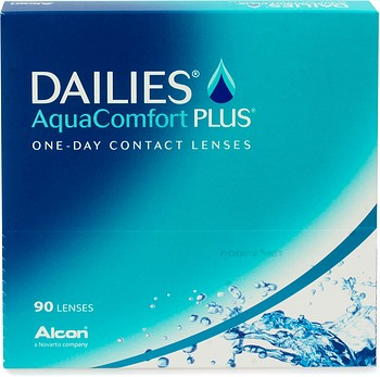 Контактные линзы Alcon Dailies AquaComfort Plus 90 линз