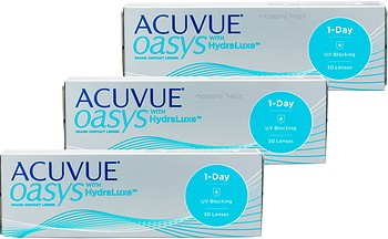 Контактные линзы Johnson & Johnson ACUVUE OASYS 1-Day with HydraLuxe™ Technology 90 линз