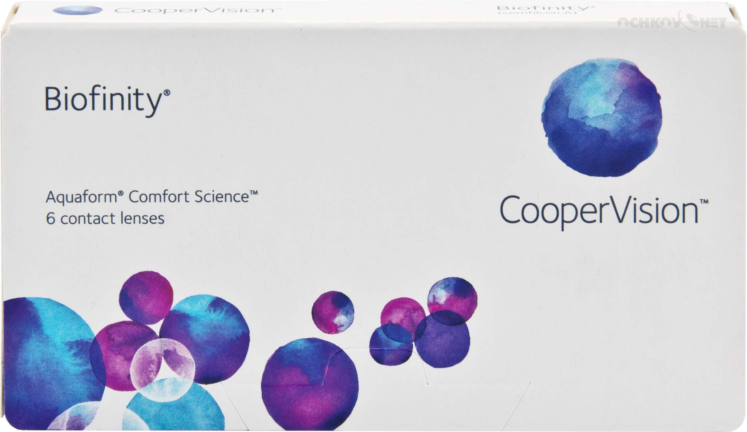 Контактные линзы Biofinity 6 линз CooperVision