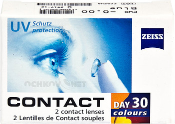 Контактные линзы Carl Zeiss Contact day 30 colors One-tone