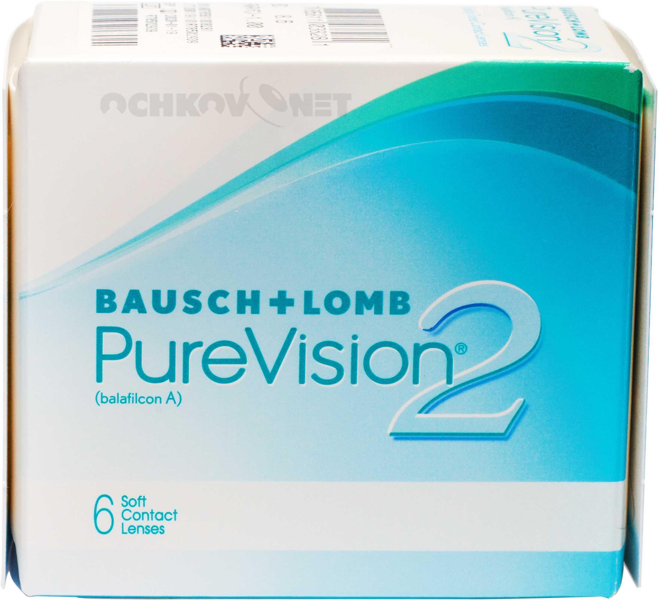 Контактные линзы PureVision 2 6 линз (упаковка)