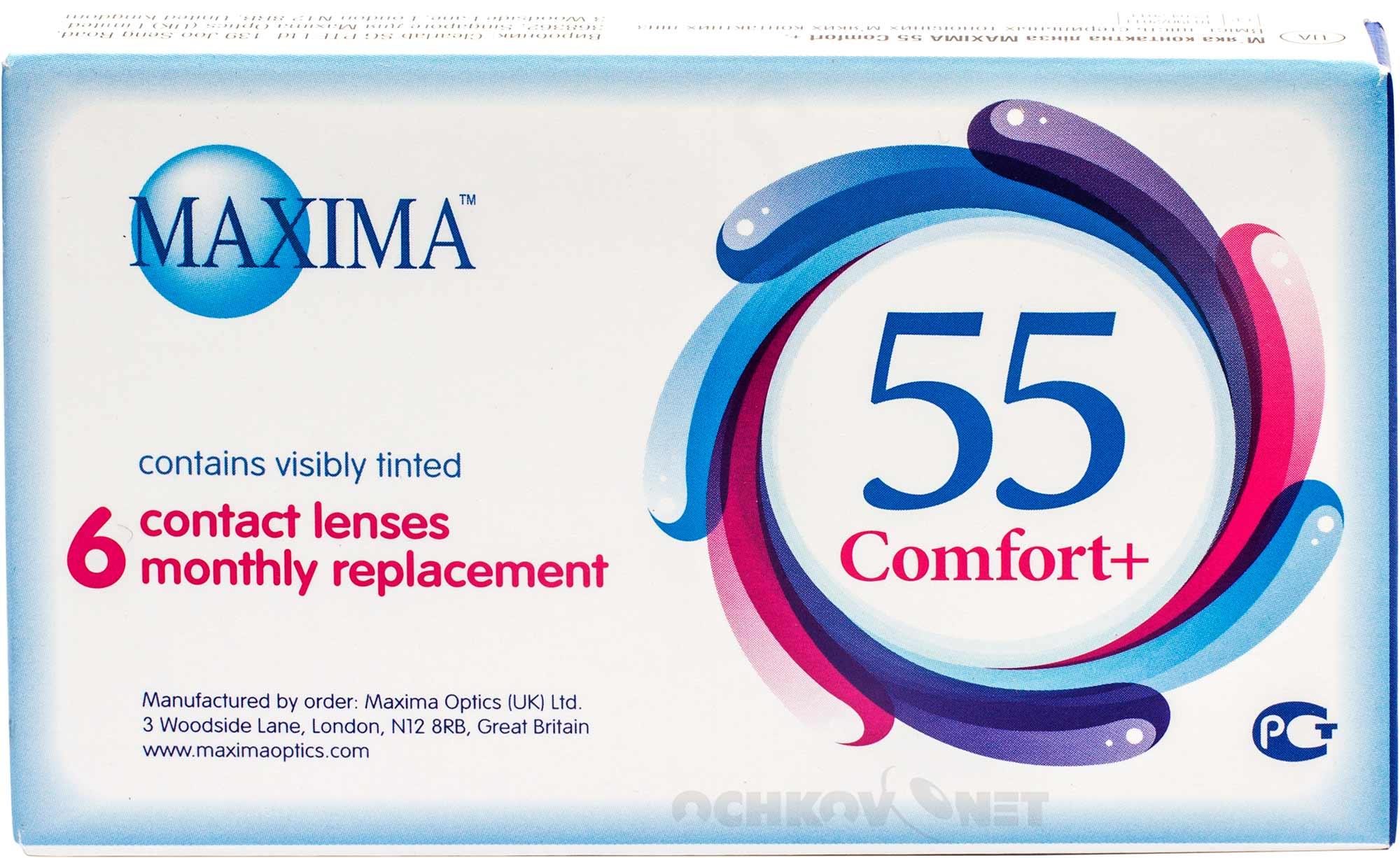 Контактные линзы Maxima 55 Comfort Plus 6