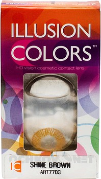 Контактные линзы Illusion Colors Shine 2 Квартальные купить недорого в интернет-магазине Ochkov.net. Доставка контактных линз и очков по Москве и России