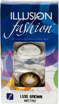 Контактные линзы Illusion Fashion Luxe 2 линзы купить недорого в интернет-магазине «Ochkov.net» | Контактные линзы доставка Москва