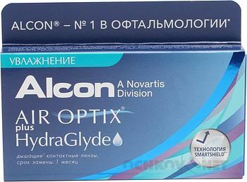 Контактные линзы Air Optix plus HydraGlyde 6 линз Оптические Линзы на месяц купить недорого в интернет-магазине Ochkov.net. Доставка контактных линз и очков по Москве и России
