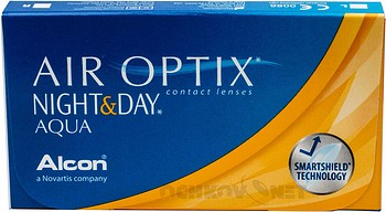 Контактные линзы Air Optix Night Day Aqua 3 Оптические Линзы на месяц купить недорого в интернет-магазине Ochkov.net. Доставка контактных линз и очков по Москве и России