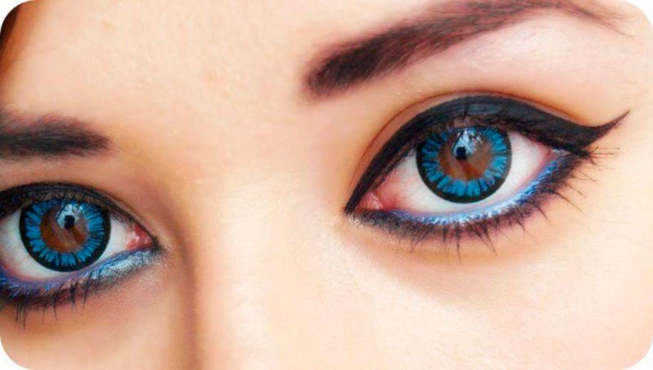 картинка глаза синие и карие глаза выделяется
