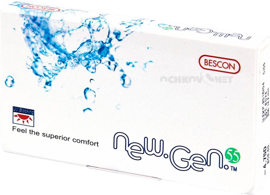 066e14ce Такая оптика обеспечивает высочайшее качество зрения и комфорт ношения.  Хороший пример данного типа офтальмологических изделий — NewGen 55 — линзы  нового ...
