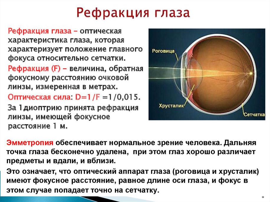 Это значит, что у обследуемого выявлена эмметропия (нормальная рефракция глаз)