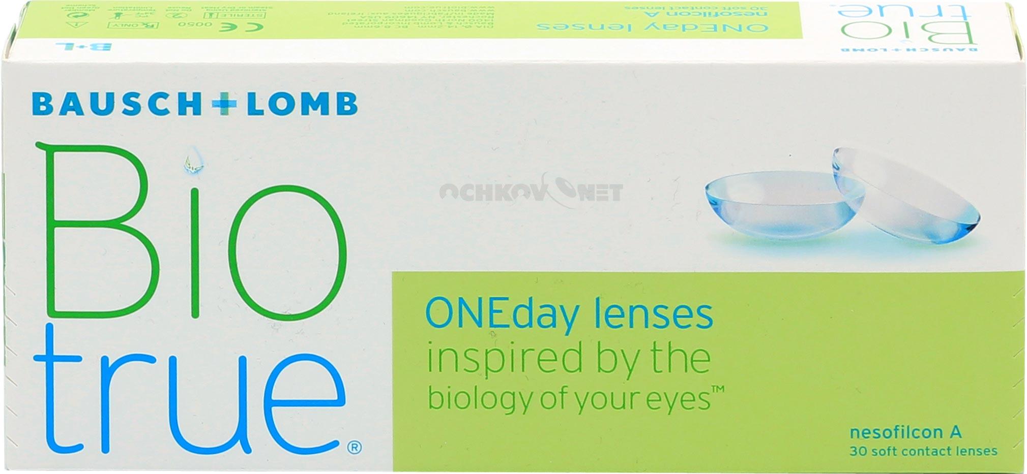 Контактные линзы Biotrue ONE day 30 линз