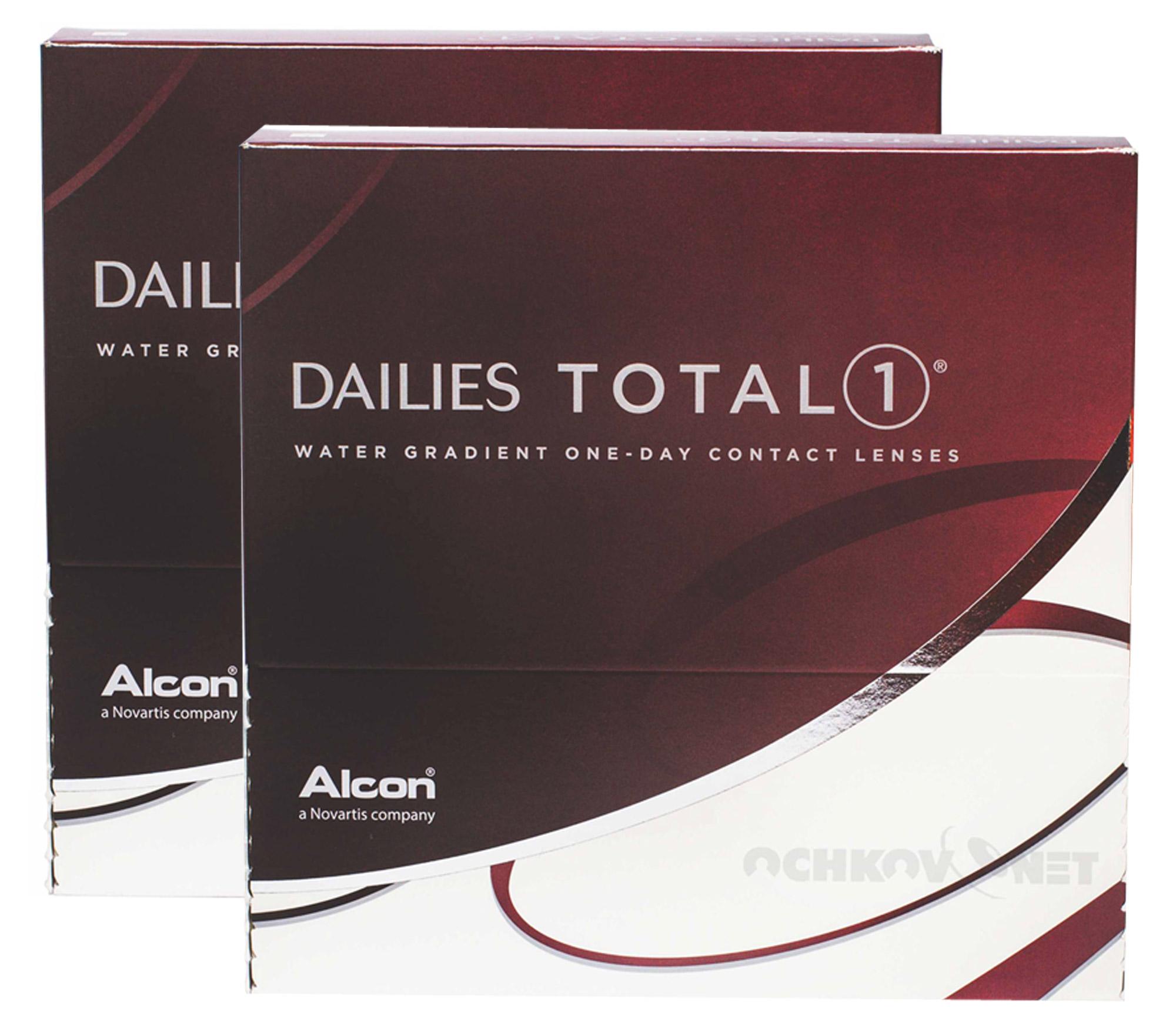 Контактные линзы Dailies Total 1 180 линз