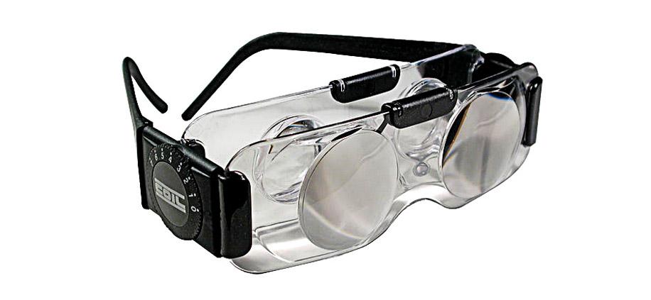 использование телескопических очков