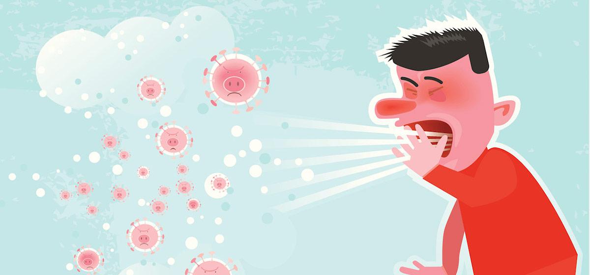 вирусы могут довольно длительный период времени находиться в воздухе во взвешенном состоянии