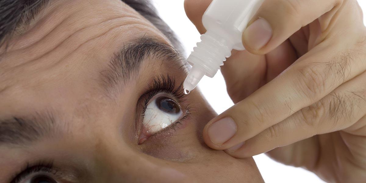 эффективным средством при лечении отека век являются глазные капли