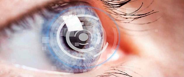 фокус камеры на зрачок глаза