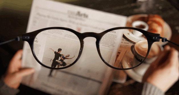 картинка видна более четко через очки